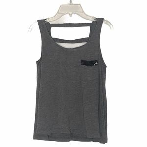 Charlotte Russe sequin tank open back gray small